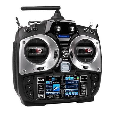 mz-18 9 Channel 2.4GHz HoTT Color TFT Transmitter